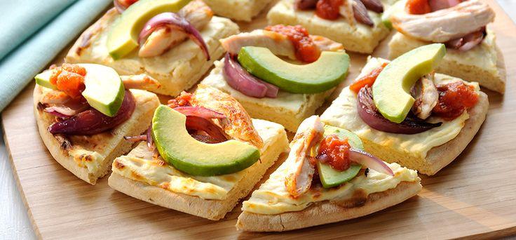 Philadelphia Chicken-avocado pizza