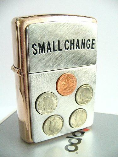 Small Change Choice ZIppo Lighter