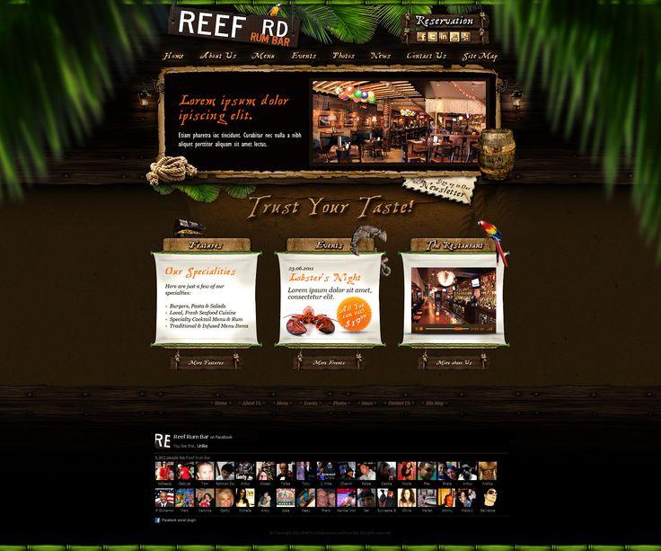 Web Design: Reef Road Restaurant by VictoryDesign.deviantart.com