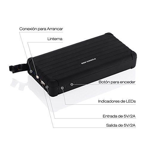 Poweradd Carmate Pro Jump Starter Paquete de Emergencia para Arrancar el Coche de Gasolina o Gasoil (12V 6000mAh) Cargador de Batería Batería Externa con LED (Linterna LED, SOS) para Smartphones Tablets y Otros Más Dispositivos - Negro - http://cargadorespara.com/comprar/bateria-de-coche/poweradd-carmate-pro-jump-starter-paquete-de-emergencia-para-arrancar-el-coche-de-gasolina-o-gasoil-12v-6000mah-cargador-de-bateria-bateria-externa-con-led-linterna-led-sos-para-smartphone
