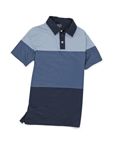 If you are tired of washing your son's golf clothing only to have the colors fade, then the Kirk boy's golf shirt is perfect for your son. With the dye-sublimated color blocking, the coloring is durable and soft so your son will stay looking and feeling his best on the golf course.