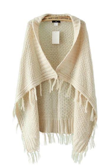 tasseled cape sweater