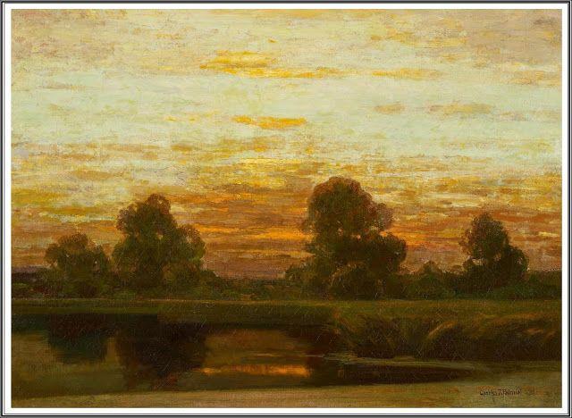 Charles Johann Palmié (1863-1911), Soir sur le Lac.