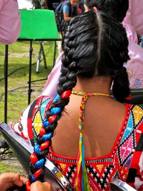 Guelaguetza, hair, Mexico, Oaxaca, parade