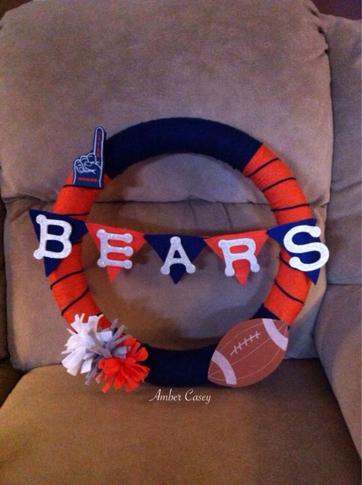 1000 Images About Chicago Bears Crafts On Pinterest