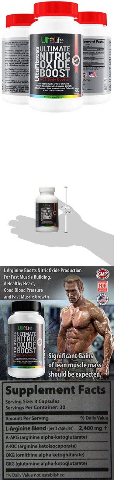 """#1 Nitric Oxide Booster -- Ultimate Nitric Oxide Supplements + L Arginine Are The Best Pre Workout Pills To Build Muscle Fast, Increase Strength, Reduce Recovery Time and Maximize Endurance In And Out Of The Gym! Experience """"The Power of The Pump"""" for You"""