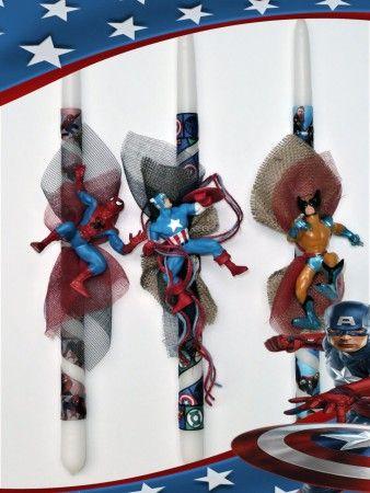 Πασχαλινές λαμπάδες Marvel