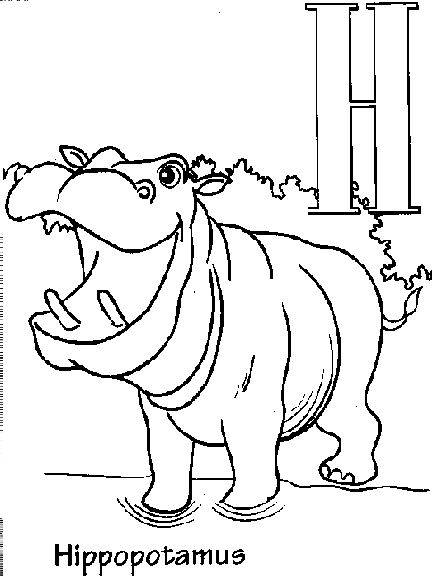 28 best Letter H images on Pinterest A letter, Letter and Letters - best of animal alphabet coloring pages a z