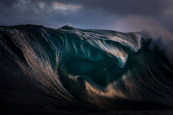 Ray Collins, photographer:  Light refracts through the curves of a breaking wave. (New South Wales, Sydney, Australia, July 2014, Nikon D4)  Smithsonian-Photo-Contest-Wave