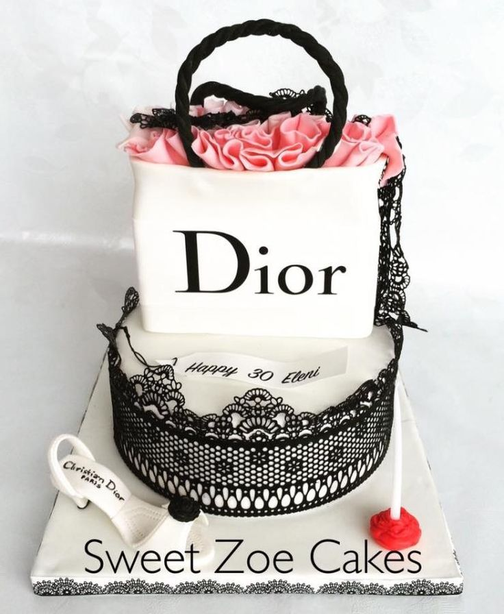 Shopping Bag Dior Cake by Dimitra Mylona - Sweet Zoe Cakes