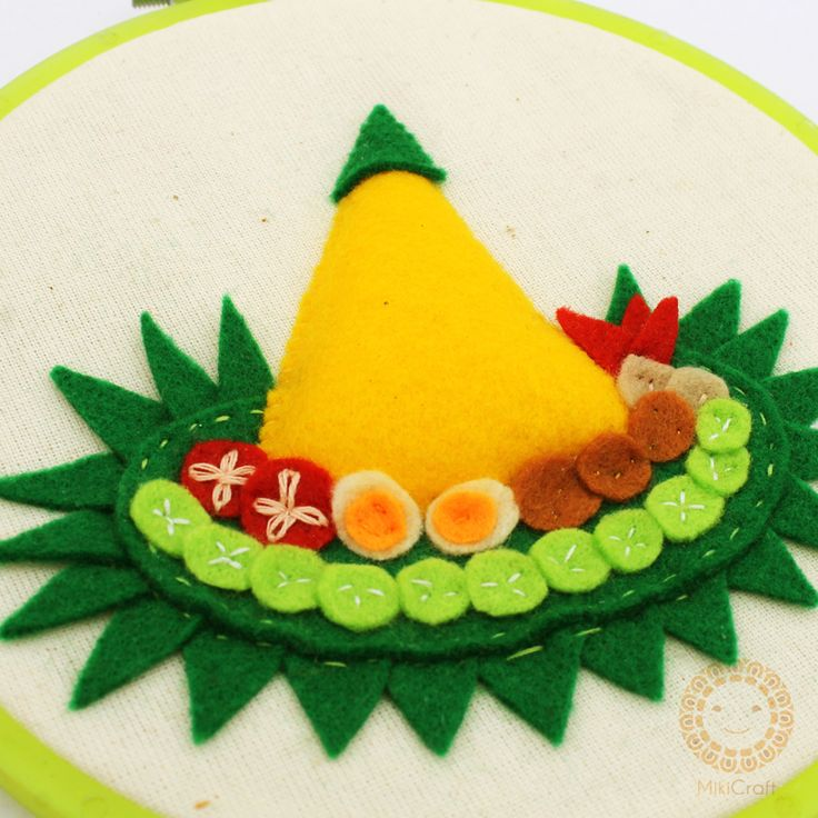 Nasi tumpeng made by felt by Miki Craft