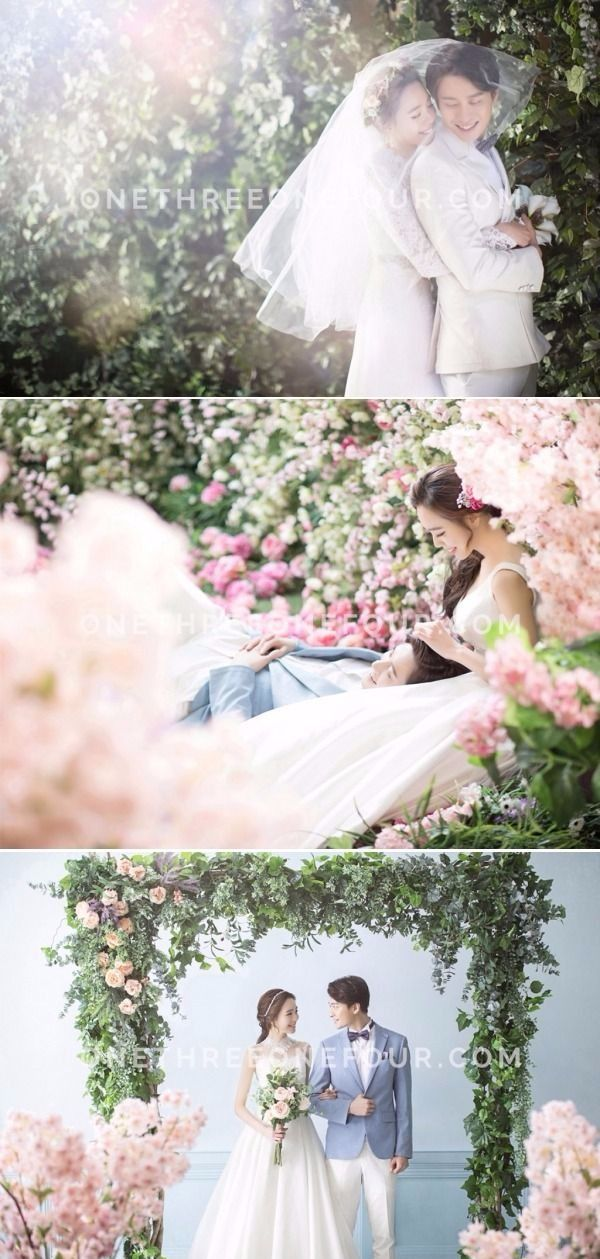 Korean Pre-Wedding Photography: M Company - Floral Romance, Cherry blossom