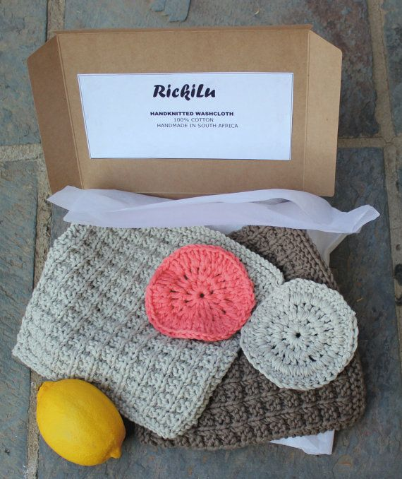 Cotton face cloth Face scrubbies Absorbent wash by KennaInAfrica