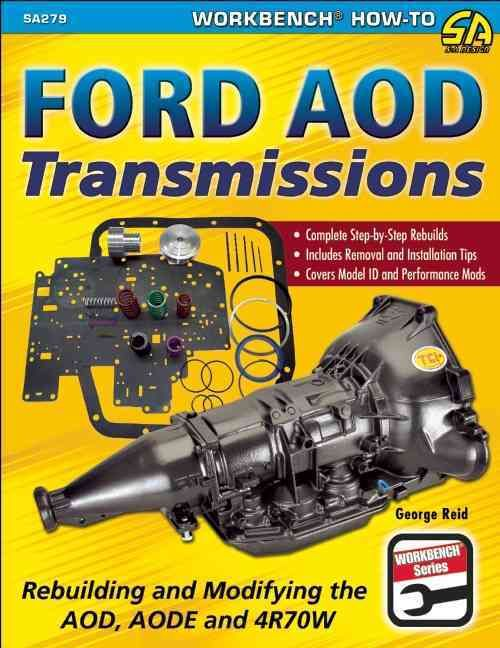 Ford AOD Transmissions: Rebuilding and Modifying the AOD, AODE and 4R70W walks you through the rebuild process step-by-step, from removing the transmission from the vehicle, to complete disassembly an
