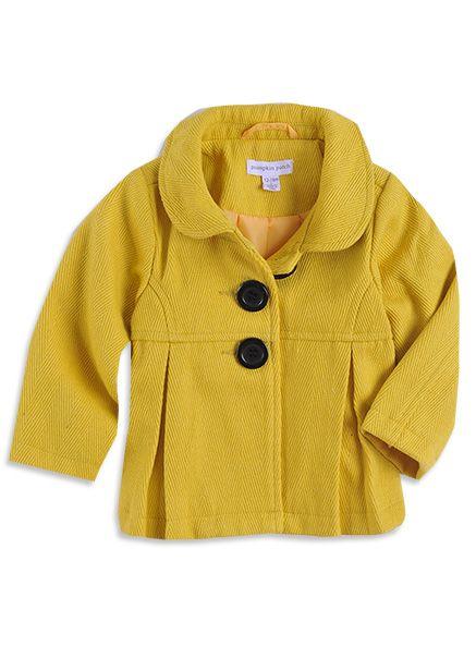 Pumpkin Patch - jackets  - textured crop jacket - W3TG40019 - custard - 6-12mths to 6