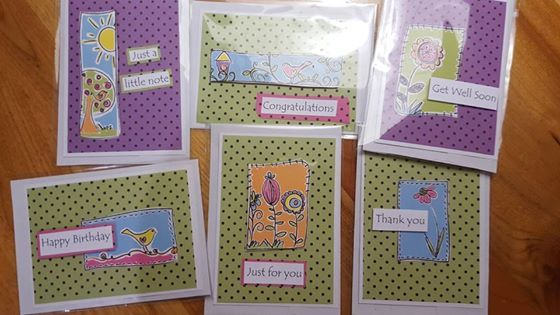 """""""These are some new cards I made last night using an old Kaszazz pack I had."""""""