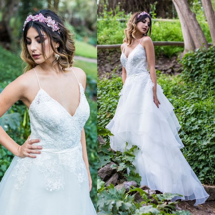 Vestido de novia con capas · Layered Wedding Dresses
