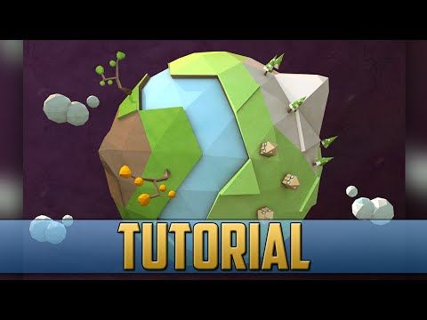 Low Poly Planet Earth Tutorial Cinema 4D - YouTube