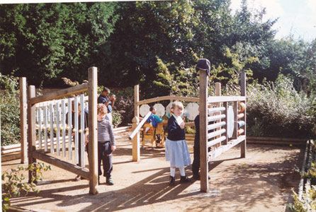 Uk musical playground in sensory garden