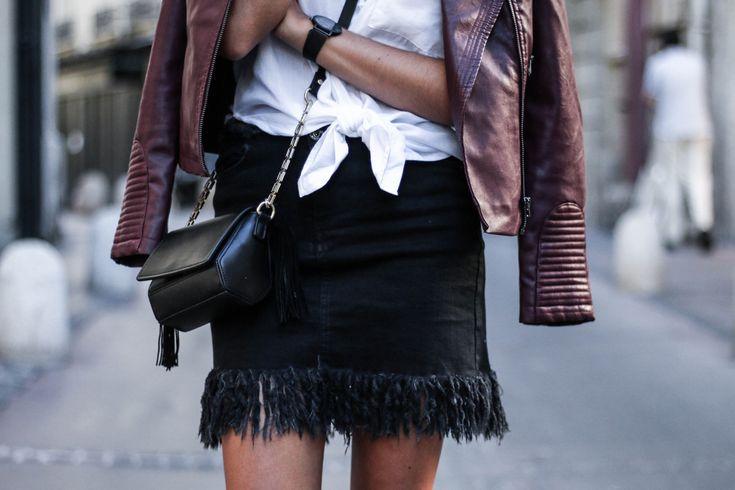 blog mode jupe en jean à franges