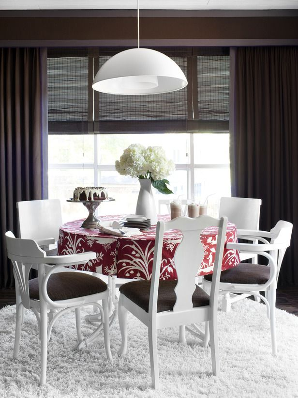 Paint Eclectic Chairs For A Cohesive Look ChairsEclectic Dining RoomsBrown
