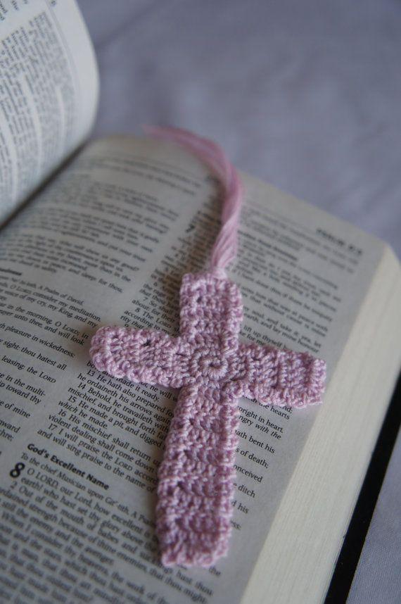 Mark Of The Cross Crochet Cross Bookmark By Juxxtapose