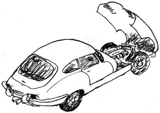 Jaguar E-type. By Lars Andersen