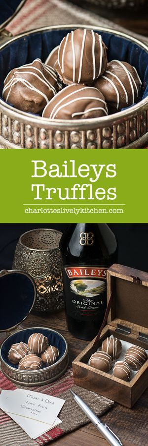 Treat someone you love with homemade Baileys truffles. There are two versions of…