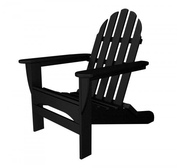 "POLYWOOD Adirondack Chair (Black) (35.75""H x 29.00""W x 35.75""D)"