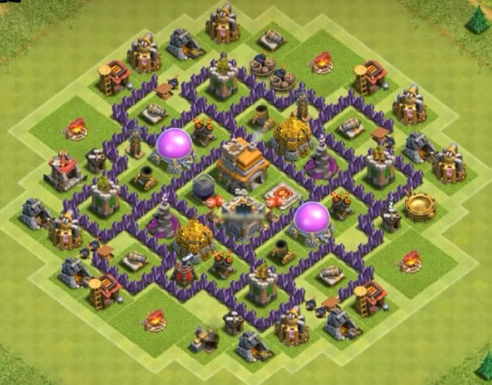 Clash Of Clans Town Hall 7 Top 8 Best Th7 Trophy Bases 2017 3 Air Defenses Cocbases Www Clasherlab Com V Clash Of Clans Clash Of Clans Game Clas Of Clan