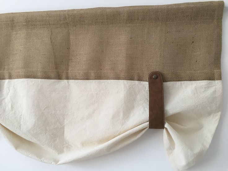 Rustic Burlap Farmhouse Window Treatment Curtain Country Chic Primitive Kitchen Valance With Faux Leather Tie Up Natural Jute Brown Decor by TalesSweetTale on Etsy https://www.etsy.com/listing/508621435/rustic-burlap-farmhouse-window-treatment