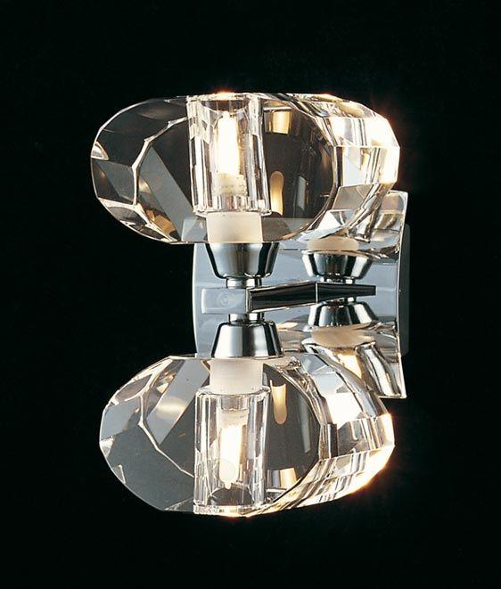Aplique cromo 2 luces ALFA - La Casa de la Lámpara