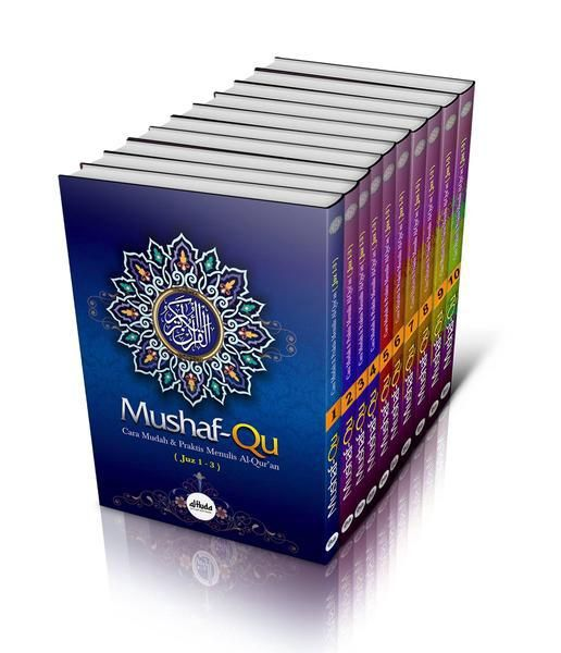 Mushaf-Qu, Cara Mudah & Praktis Menulis Al-Qur`an Lengkap 1 Set oleh Ustadz Bachtiar Nasir, Al Huda - Gema Insani