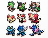 Pokemon X y Y Perler generación 6 entrantes - elija 1 o un conjunto de 3
