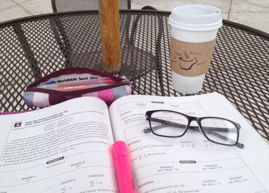 Monday, August 31 2015 | 12:18 I went to study at the public library, but the air conditioning was way too aggressive so I'm outside with some coffee. GRE prep as usual.