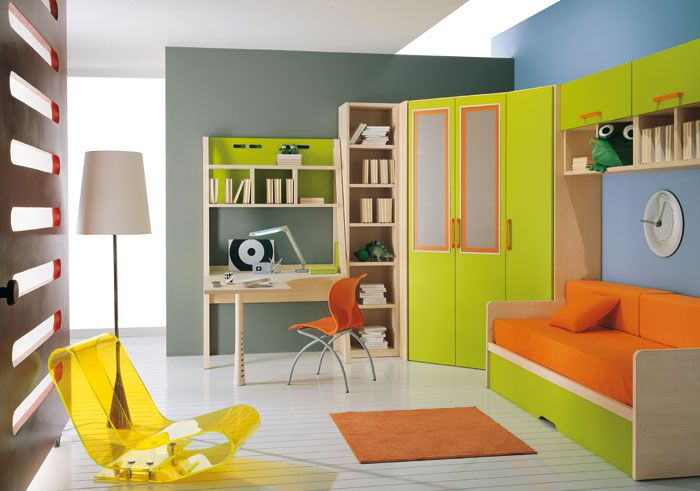 Modular furniture for kids' rooms.