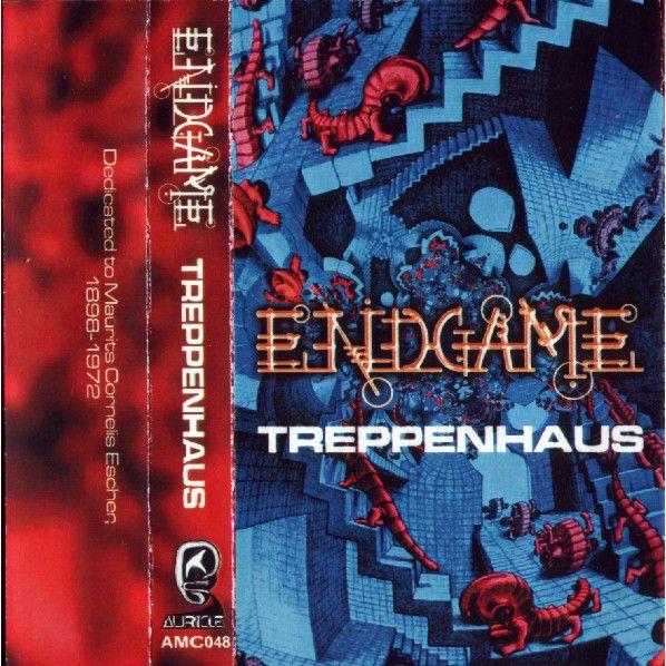 2001 Endgame - Treppenhaus (cassette) [Auricle AMC 048]original artworks: M.C. Escher - House of Stairs (1951) #albumcover