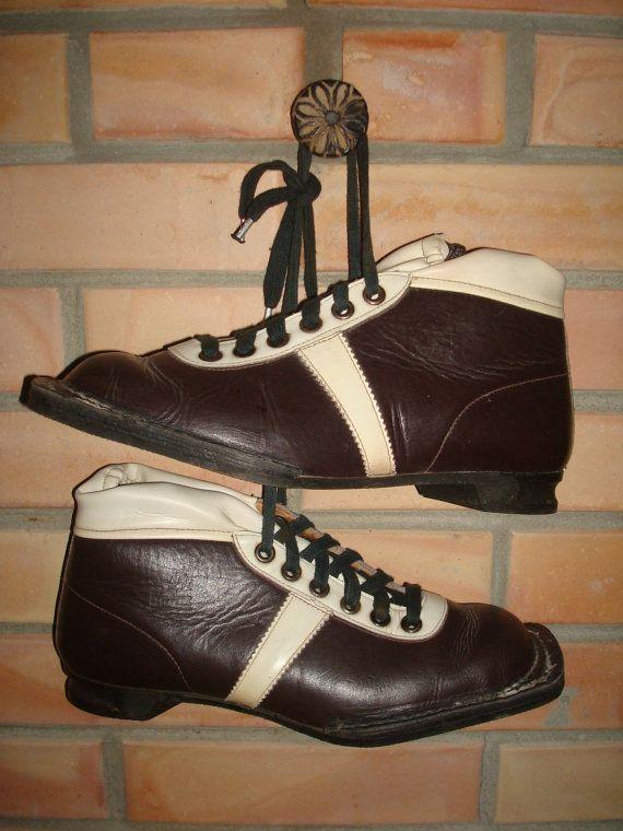 Soviet Vintage  Ski Boots Vintage Ski Shoes Winter by OLaLaVintage