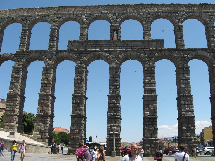 The Roman Aqueducts en Segovia, Spain. Lived in Segovia for a summer.