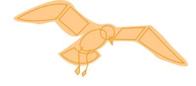 Richtsnoer van un vogel Vliegen in de Buurt van de Grond