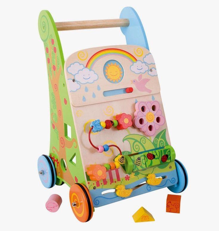 Un chariot de marche et centre d'activité fleur de la marque Bigjigs pour apprendre à bébé à faire ses premiers pas et découvrir 7 activités différentes pour jouer. A partir d'un an+ Cette référence remplace BB021