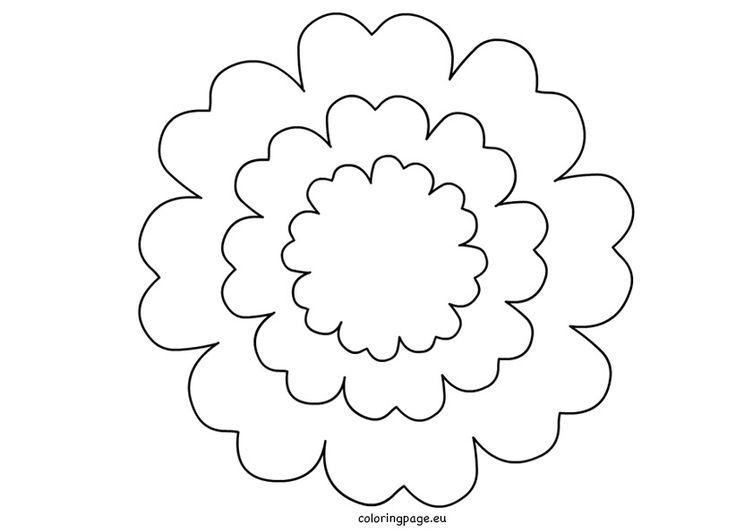 The  Best Flower Petal Template Ideas On   Paper