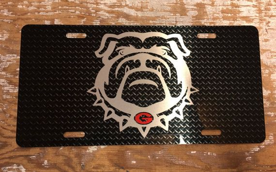 Georgia Bulldogs License Plate Georgia Bulldogs Car Tag