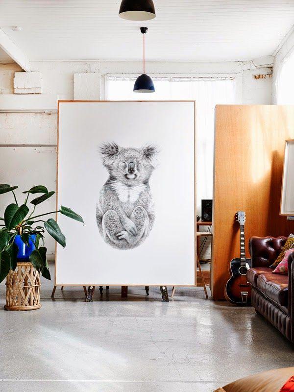 Australian loft arty / Blog La petite fabrique de rêves