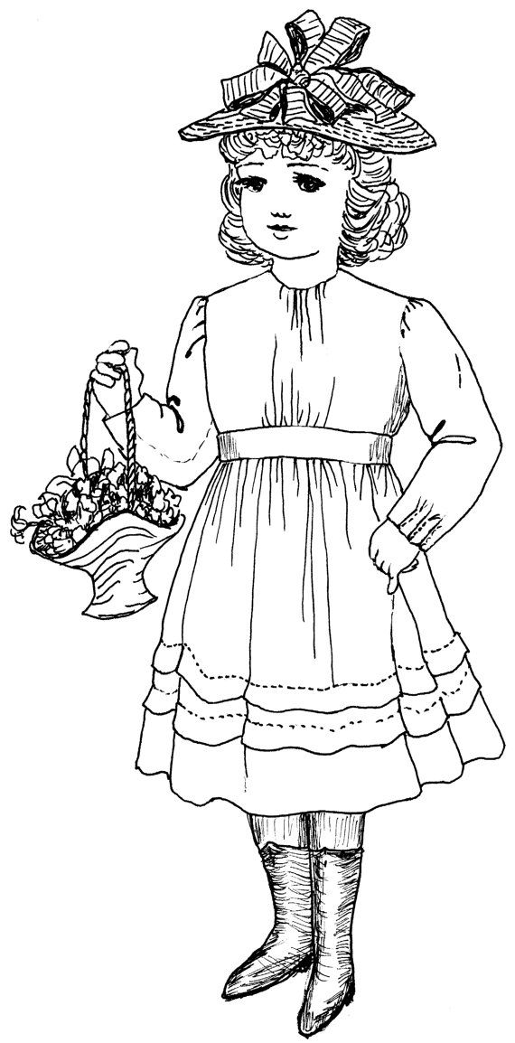 1854 Dress with Tucks Sewing Pattern fits 18 In by