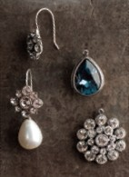 E2212 with various charm earring attachments