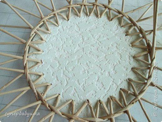 Мастер-класс Плетение Картонное дно без приклеенных трубочек Трубочки бумажные фото 17