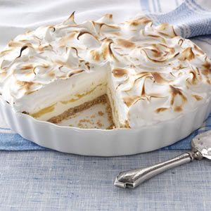 Lemon Meringue Ice Cream Pie Recipe from Taste of Home