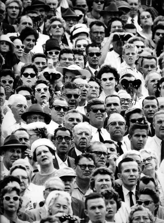 John F. Kennedy a face in the crowd at a college football game in Miami, Florida, 1961 — Flip Schulke