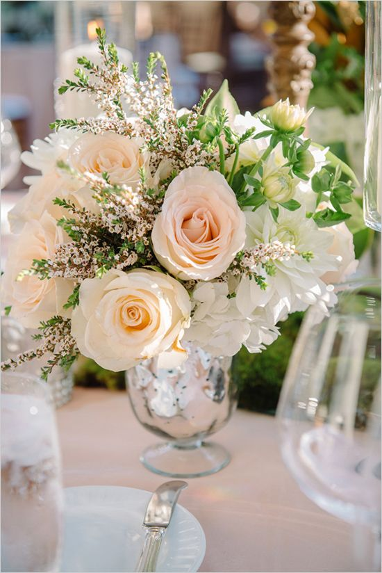 52 best images about wedding centerpieces on pinterest for Small wedding centerpieces